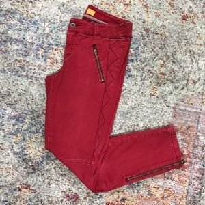 pilcro and the letterpress red ankle pants